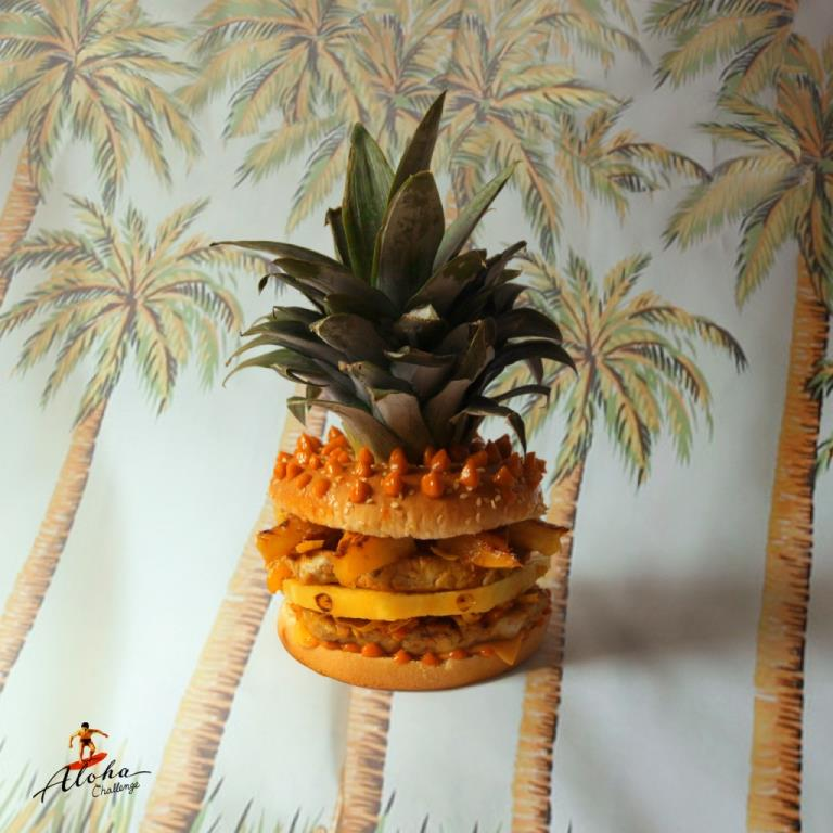 Hawaiian Burger. sirloin pork caramelized pineapple juice and spices ...