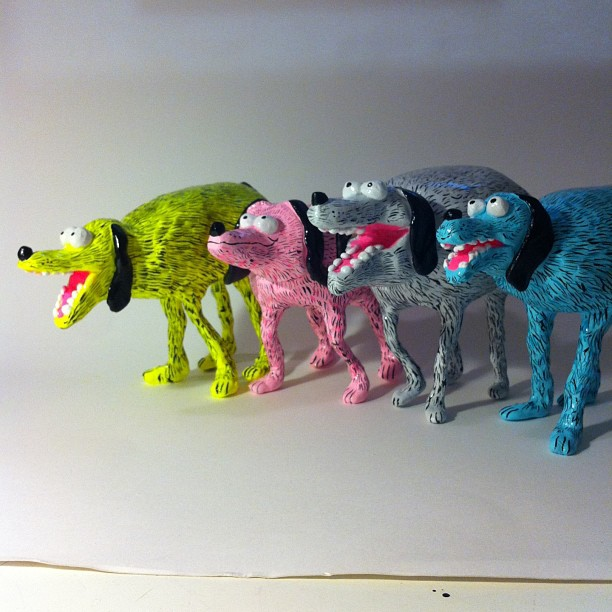 Dog Gang sculptures by Jay Howell