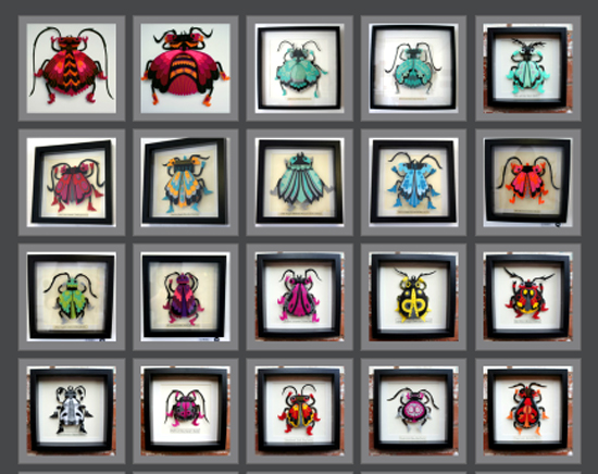 Felt Beetles by Felt Mistress