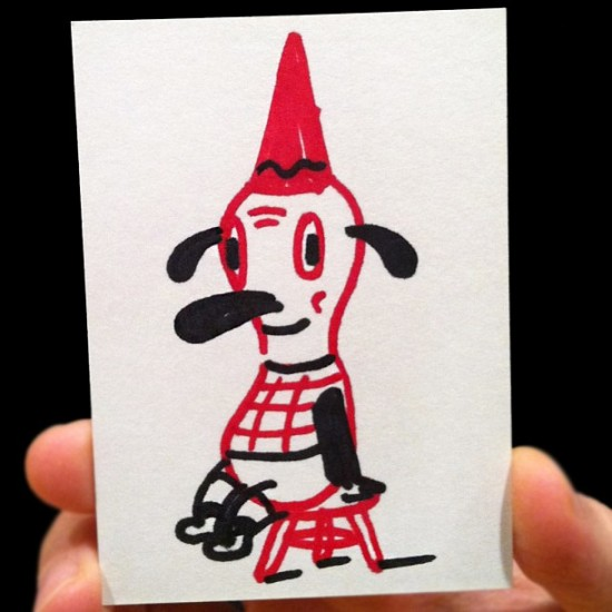 Gary Baseman original Art Hustle card