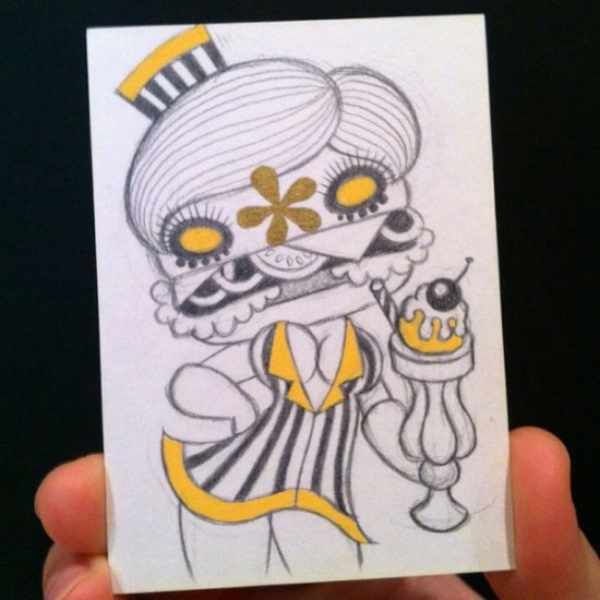 Junko Mizuno original Art Hustle card