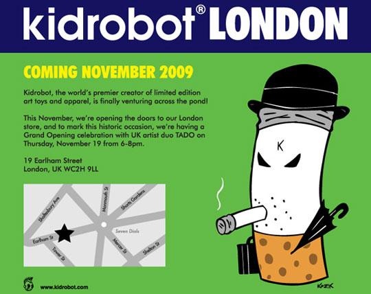 Kidrobot London opening