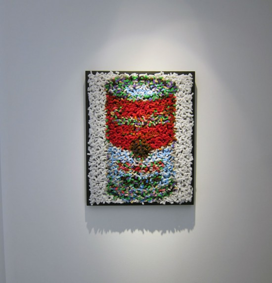 """After Warhol"" (2,773 chenille pipe cleaners) by Devorah Sperber"