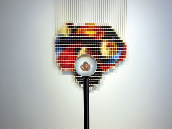 """Superman"" (690 spools of thread) by Devorah Sperber"
