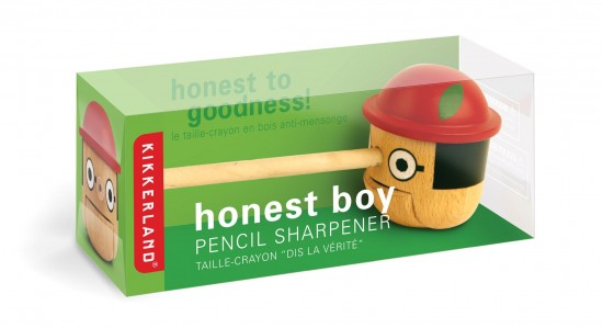 The Honest Boy Pinocchio Pencil Sharpener from Kikkerland