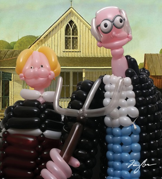 American Gothic airigami