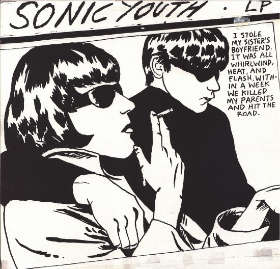 Sonic Youth Goo album cover art by Raymond Pettibon (1990)