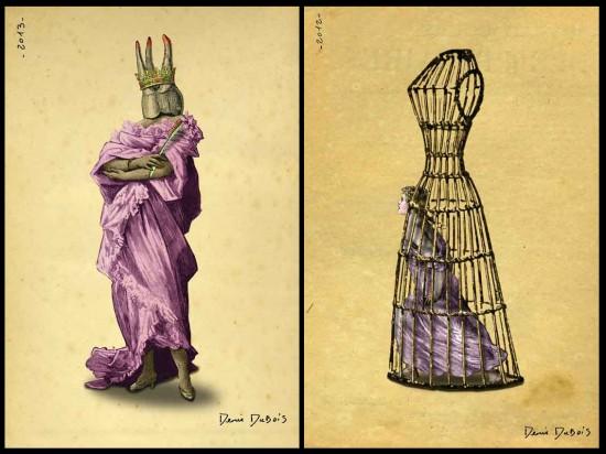"""Crown"" and ""Prisoner of Fashion"" © Denis Dubois"