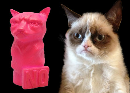 Grumpy cat toys from Mightyjaxx