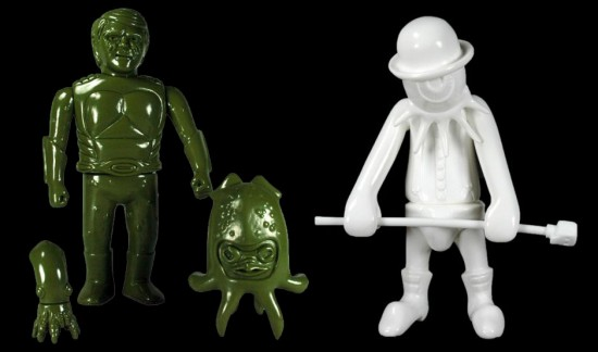 Munktiki and Kenth Toy Works unpainted vinyls produced by Toy Art Gallery