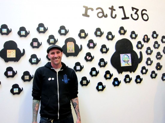 """Matt Ritchie """"Rat136"""" at Zerofriends, Oakland"""
