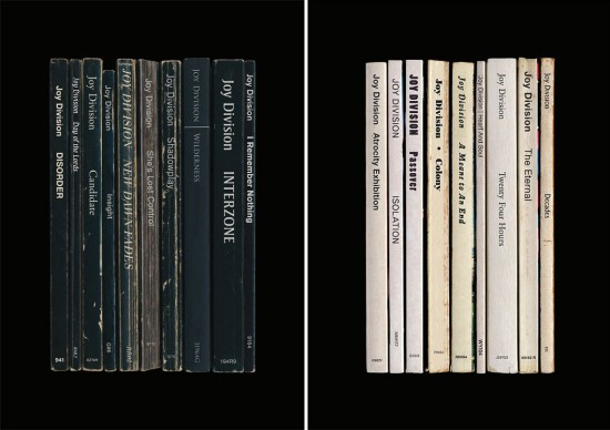 Joy Division album/book posters by Standard Designs