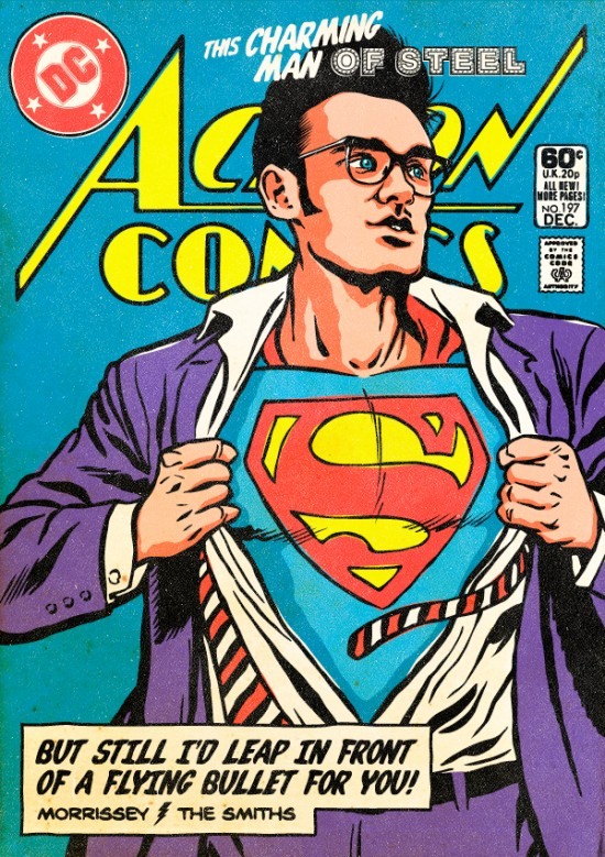 Morrissey as Superman. Post-punk Superheroes by Butcher Billy.