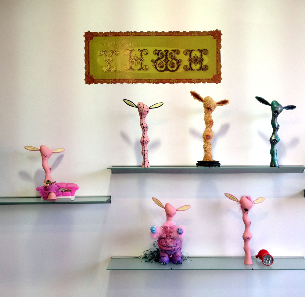 Mark Ryden's YHWH custom toy show at Toy Art Gallery