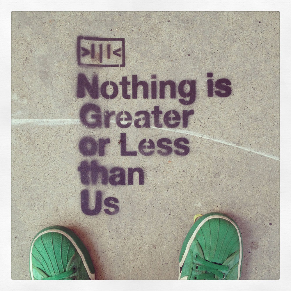 """""""Nothing is greater or less than us."""" Culver City"""