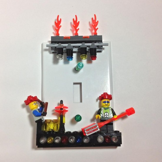 Lego Devo Light Switch cover by BrickShtick