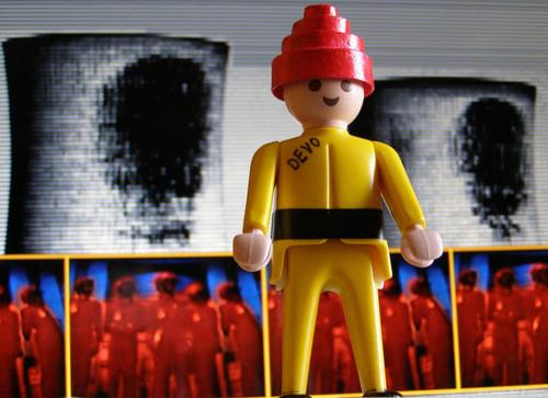 Play Mobil DEVO figure, found on Tumblr