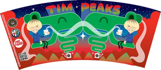 Tim Peaks x Pete Fowler coffee labels