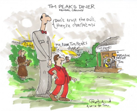 Tim Peaks cartoon by Tony Husband