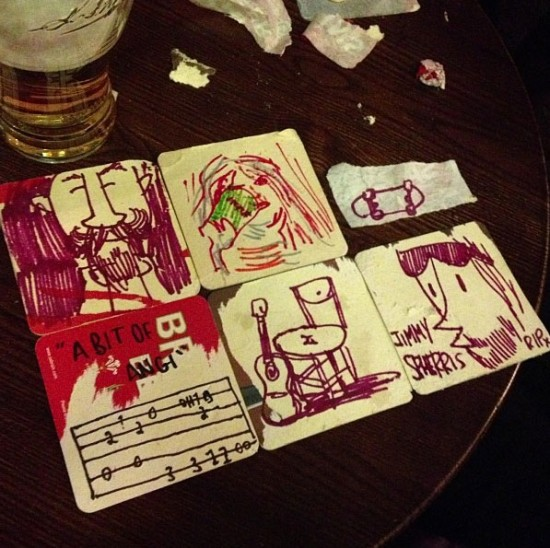 Beer doodles by Pete Fowler