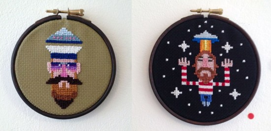cross stitch by Pete Fowler