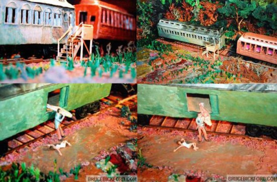 Clay models of Twin Peaks by Bruce Bickford