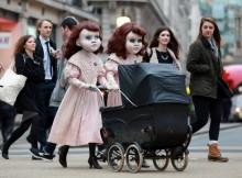 lifesized Victorian dolls