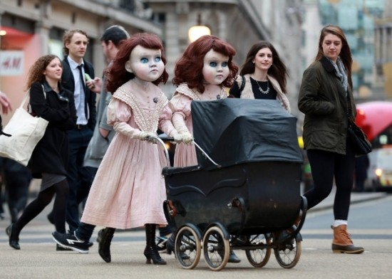 lifesized Victorian dolls
