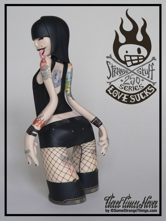 Three Times Never Tattoo girl punk toy by Marcos Lorenzo