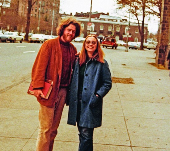 Hippie Bill and Hillary Clinton