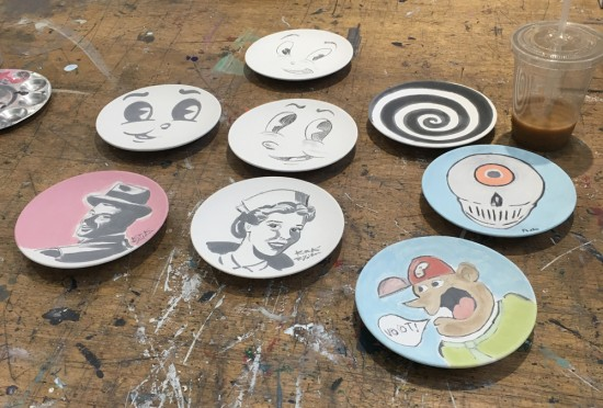 Art plates in progress
