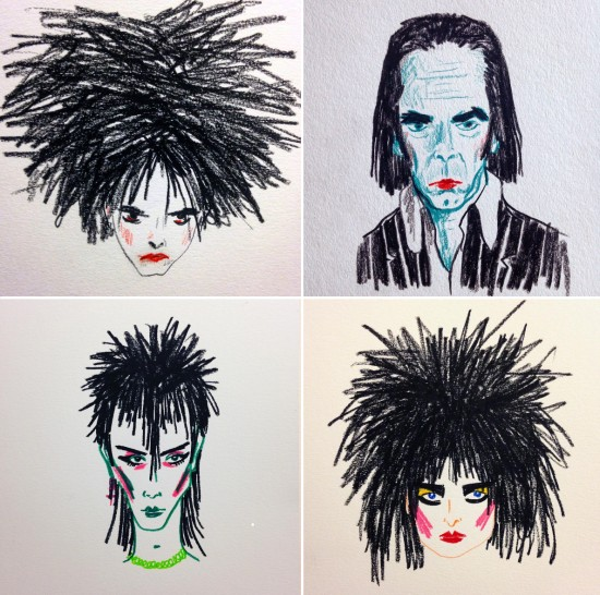 The Cure, Nick Cave, Bauhaus, Siouxsie by Nathan Jurevicius