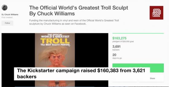 Trump Troll Doll Kickstarter campaign