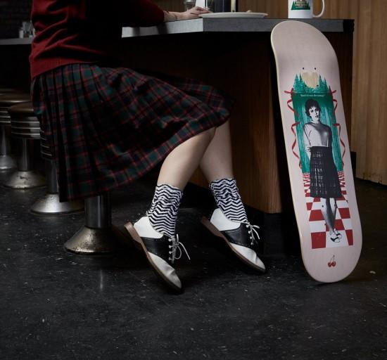 Habitat x Twin Peaks skateboards