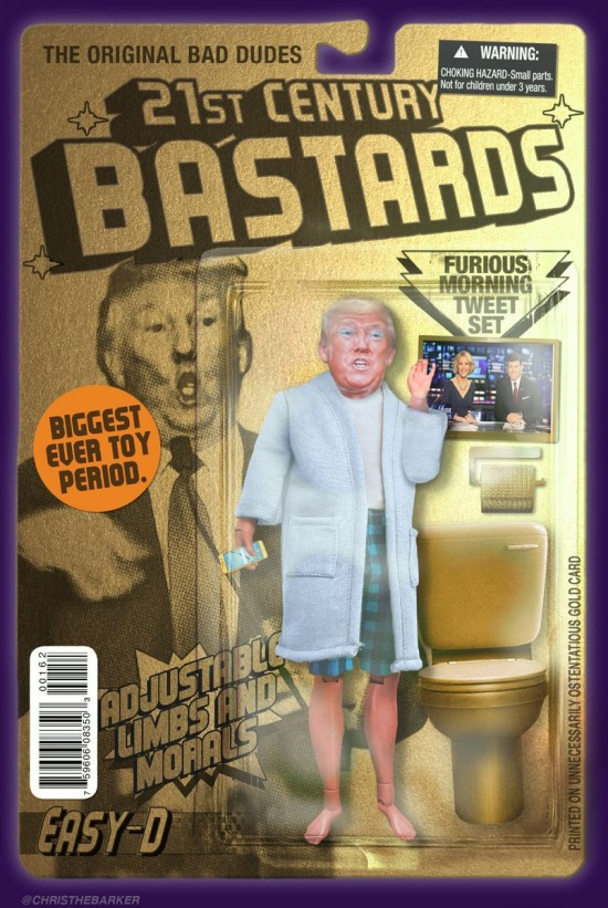 Donald Trump action figure by Chris Barker