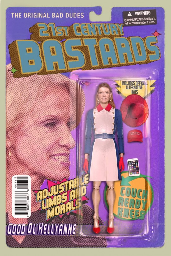 Kellyanne Conway action figure by Chris Barker