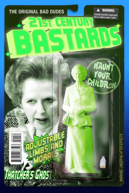 Margaret Thatcher action figure by Chris Barker