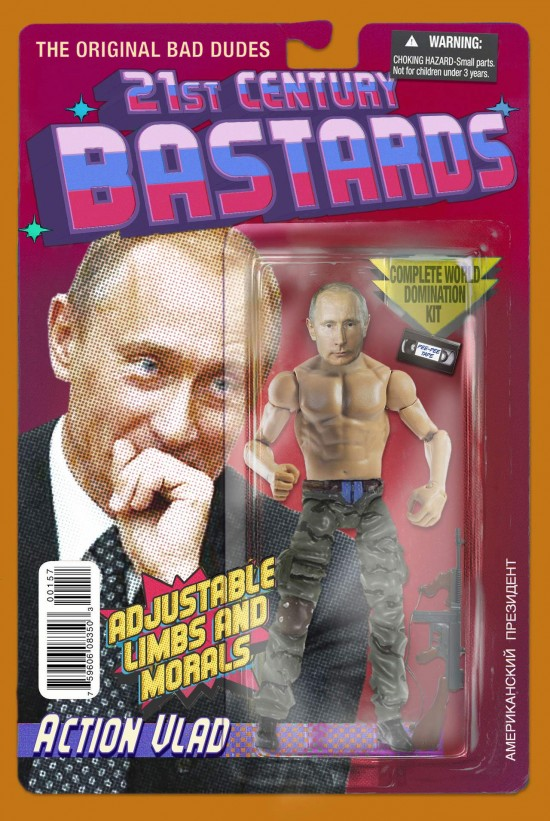 Vladimir Putin action figure by Chris Barker