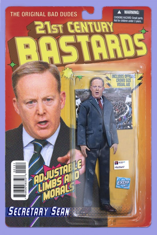 Sean Spicer action figure by Chris Barker