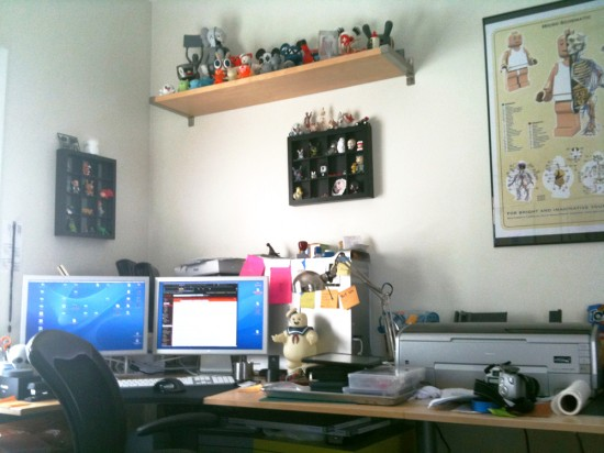 Jason Freeny's desk