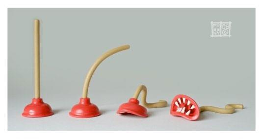 Plunger Monsters by Jason Freeny