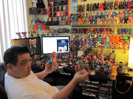 Toybot Studios man cave visit