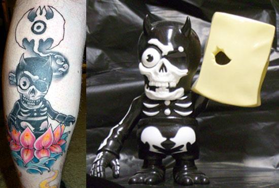 Tattoos inspired by art: Misfits Bagman by Balzac. Flesh canvas by Frankie.