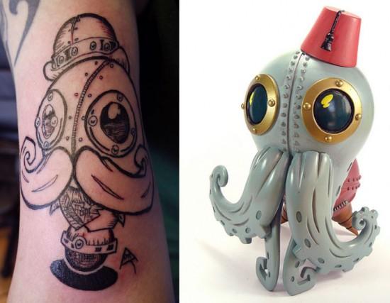 Tattoos inspired by art: Stephan LePodd by Doktor A. Skin canvas by Joey.