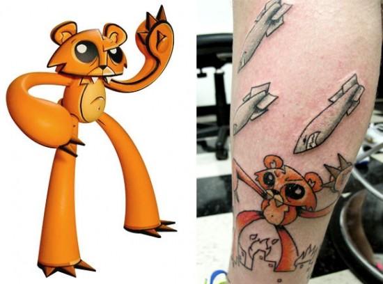 Tattoos inspired by art: Ringo by Joe Ledbetter. Tattoo by Arthur (A.J.) Zitzka. Flesh canvas by Jordan.