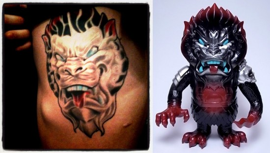 Tattoos inspired by art: Mongolion by Lamour Supreme. Tattoo by Randall Muntz. Skin of Sean-Franc.
