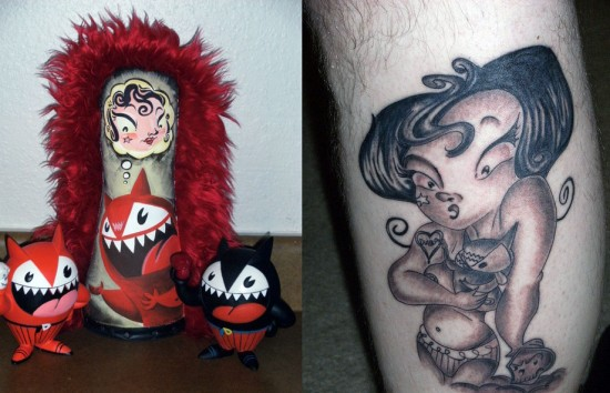 Tattoos inspired by art: El Diablo by McBoingBoing. Flesh canvas by Munk20.