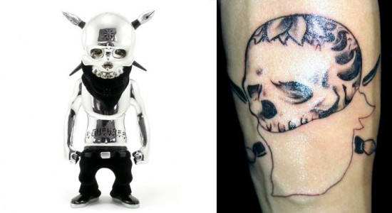 Tattoos inspired by art: Rebel Ink by Usugrow.