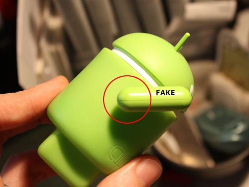 Fake Google Android toys