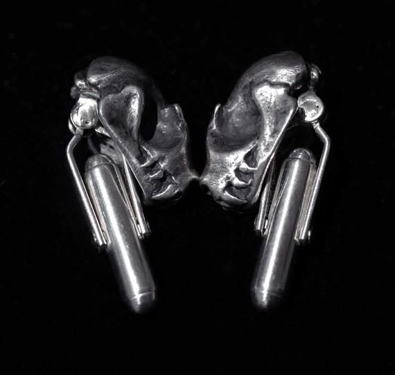Bat Skull Cuff Links by Miyu Decay/Stephanie Inagaki